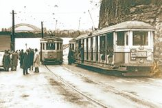 Athol Wharf and the tram heading up the hill for Taronga Park Zoo, Sydney, Australia 1958 v Moore Park, Elephant Ride, Rail Transport, Sydney Australia, North Shore, Buses, Old Photos, Trains, Transportation