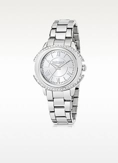 JUST CAVALLI Just Decor Silver Tone Stainless Steel Women'S Watch. #justcavalli #just decor silver tone stainless steel women's wat