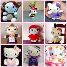 Amigurumis Hello Kitty con patrón gratis http://www.arteydiversidades.com/2013/06/hello-kitty-y-sus-amigos-amigurumis.html