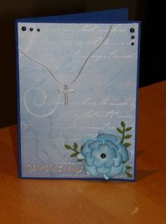 Rippikortti Confirmation card Diy And Crafts, Notebook, Communion, Cards, Notebooks, Maps, Community, Eucharist, Exercise Book