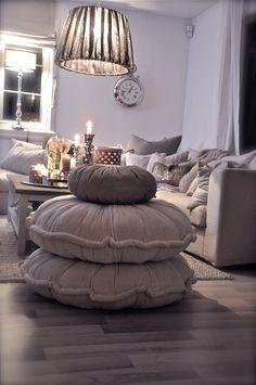 LOVE these floor pillows!