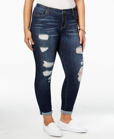 93b035cf187 Celebrity Pink Trendy Plus Size Nostalgia Wash Ripped Jeans Plus Sizes -  Jeans - Macy s
