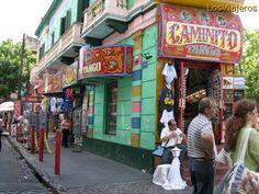El pintoresco barrio de la Boca es quizás el más famoso de la ciudad de Buenos Aires.