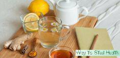 De ultieme platte buik, ontsteking, detox, citroen, kurkuma, gember thee!