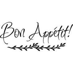 Bon Appetit Sign In Cursive -