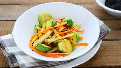 Try this hashed brussels sprouts with carrots and poppy seeds recipe as part of our collection from the Natural Gourmet Institute.