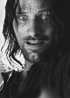 The face I make when I can't conceive the perfection that is Aragorn!!