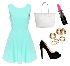 """""""Untitled #70"""" by electraz on Polyvore featuring Christian Louboutin, Apt. 9 and Smashbox"""