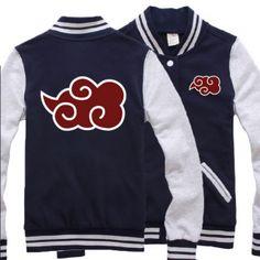Nuvens Naruto jaqueta de beisebol para os homens Uchiha Itachi camisola XXXL