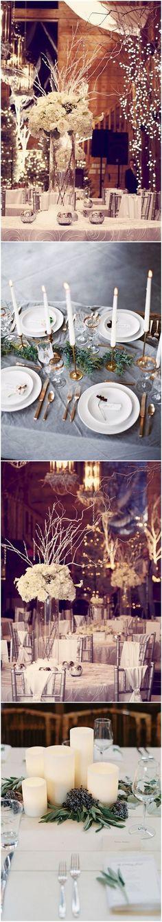 Wedding    Decorations » Romance and Warmth– 29 Genius Winter Wedding Table Setting    Ideas