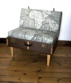 Maps & suitcase plus legs: perfect for the world travelers!