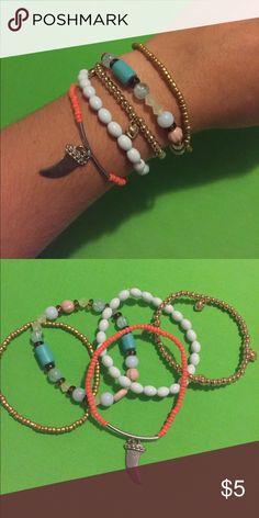 Set of 5 stretch fashion bracelets Set of 5 stretch bracelets. See pictures for description Jewelry Bracelets