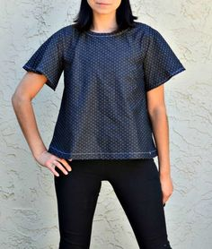 Heather Top: Learn how to make this beautiful, trendy and chic top with is Free Sewing Pattern