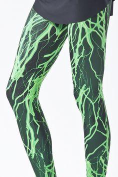 Black Milk Clothing Toxic Electro Green Leggings M PC