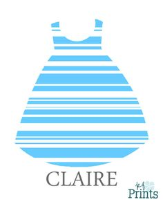 Looking for a custom piece of art to hang in your baby girls nursery? This striped print patterned baby dress with name is completely personalized to