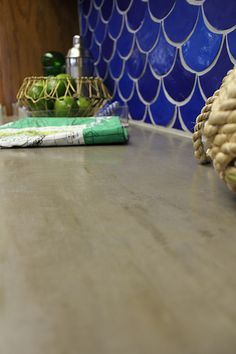 How to concrete over laminate counters
