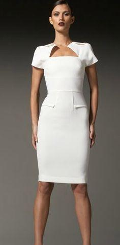 Roland Mouret #rolandmouret #whitedress