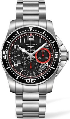 L3.696.4.53.6, L36964536, Longines hydroconquest watch, mens
