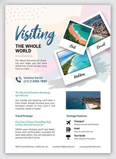 Vacation Flyer by indotitas on Envato Elements Ui Ux, Stress Free, Flyer Template, Photoshop, Posters, Templates, Vacation, Cards, Travel