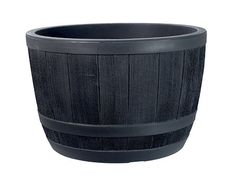 Stewart Plastic Garden Outdoor Oak Effect Half Barrel - 61 x 40cms Buy this and much more home & living products at http://www.woonio.co.uk/p/stewart-plastic-garden-outdoor-oak-effect-half-barrel-61-x-40cms/