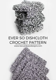 Ever so Dishcloth Crochet Pattern by Rescued Paw Designs. Click to Read or Pin and Save for Later!