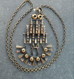 Trendy Women's Outfits : Pentti Sarpaneva for Kalevala Koru, Vintage kinetic bronze pendant,