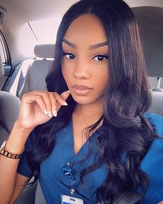 Uhair Mall Brazilian Body Wave Remy Human Hair Wigs For Women,Natural Color Density Lace Front Wigs. Cute Nurse, Sexy Nurse, Beautiful Nurse, Beautiful Black Women, Remy Human Hair, Human Hair Wigs, Nursing Goals, Cute Scrubs, Female Doctor