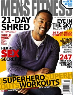 As usual, men's magazines have more numbers and sex on the cover than anybody wants to be subjected to, but at least this one has Sam Wilson, right? Meanwhile, Sam's inner fanboy lost it at being mentioned on the same cover as a bunch of Avengers. Get Ripped Fast, Every Man, Tony Stark, Mens Fitness, Fangirl, Avengers, October 2014, Reading, Magazines