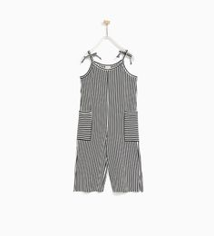 ZARA - KIDS - STRIPED STRAPPY JUMPSUIT