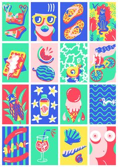 Marylou Faure, illustration, art, color pattern,