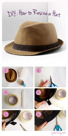 DIY: How to Resize a Hat. Is your hat too big? Follow this tutorial to resize your hat for the perfect fit!