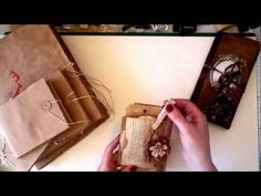 YouTube...Vintage journals...Use of aged paper bags and papers