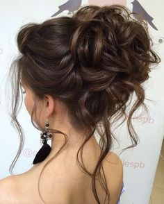Long Hair Updo Prom, Messy Wedding Hair, Bridal Hair Updo, Elegant Wedding Hair, Wedding Hairstyles For Long Hair, Wedding Hair And Makeup, Graduation Hairstyles, Prom Long, Perfect Wedding
