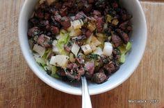 Recette rapide de salade d'endives au foie de volaille et comté