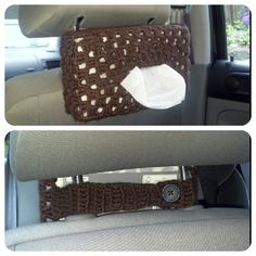 I just made this tissue box crochet for our car! It turned out great!