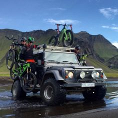 No wet toes today! #iceland #mtbiceland #Landrover #Defender 110
