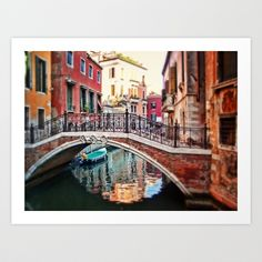 the blue boat Art Print by Sylvia Cook Photography - $19.00