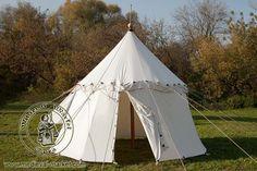 Pavilion with one pole (phi 4,2 m) - cotton . Medieval Market, Single pole pavilion type 1