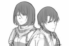 levi+and+mikasa | ... attack on titan, levi x mikasa, snk, levimika and shingeki no kyojin Rivamika love  Levi x Mikasa  Ackermans  Shingeki No Kyojin  Anime Attack on titan