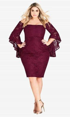 756c527144b Mystic Lace Dress - Ruby. Plus Size Fashion For WomenClothing ...