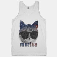 Merica Cat | T-Shirts, Tank Tops, Sweatshirts and Hoodies | HUMAN