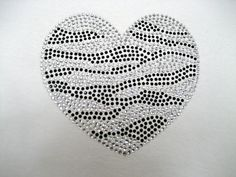 3 H x 3 W Zebra Bling Heart by XOXOBLING on Etsy, $5.99