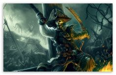 Pirate Sword Fight Painting wallpaper