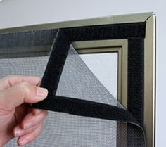 Window screen (Flies and insects net)   Made with screen mesh, velcro (sewn to mesh) and the sticky velcro for the frame.