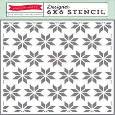 Echo Park Paper Stencil - Holiday Quilt