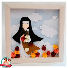 Santa Terezinha – Débora Vieira – Desenhos para Máquinas de Corte All Souls Day, All Saints, Paper Cutting, Quilling, Origami, Diy And Crafts, Scrapbook Pages, Sacramento, Mini