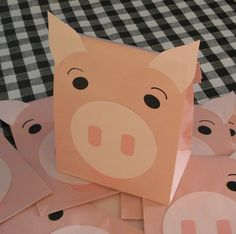 Pink Pig Treat Sacks - Farm Hamm Toy Story Barnyard Theme Birthday Party Favor Bags by jettabees on Etsy. $15.00, via Etsy.