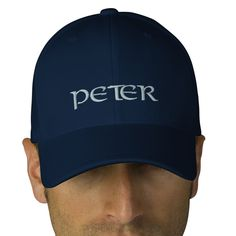 http://www.zazzle.com/your_name_here_navy_blue_personalized_hat_embroidered_hat-233306564489633628