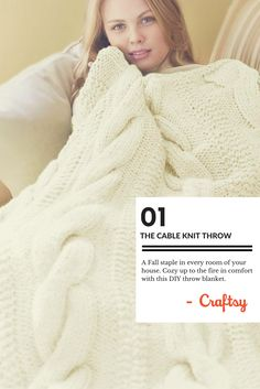 Cabled and comfy, you can't say no to this throw!