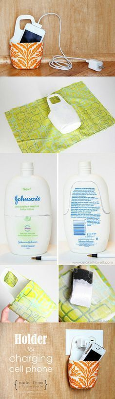 Or make a pretty one from an old lotion bottle. | 28 Low-Tech Hacks For Your High-Tech Gadgets